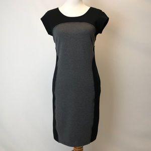 Athleta | grey & Black fit bodycon dress small